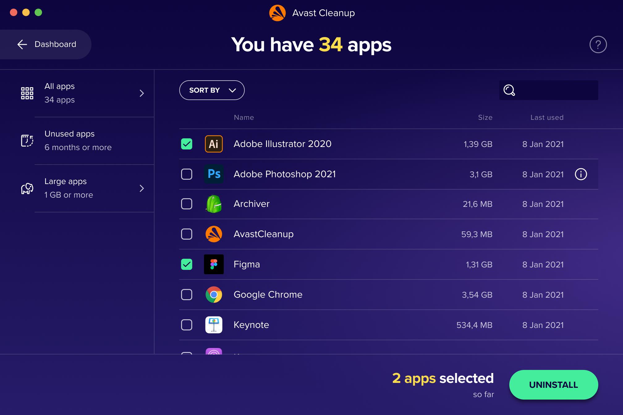 Application List